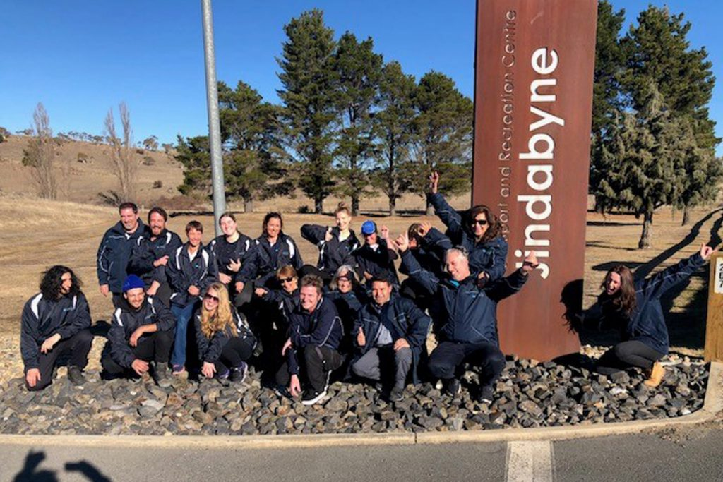 the Quayclean team at Jindabyne in NSW
