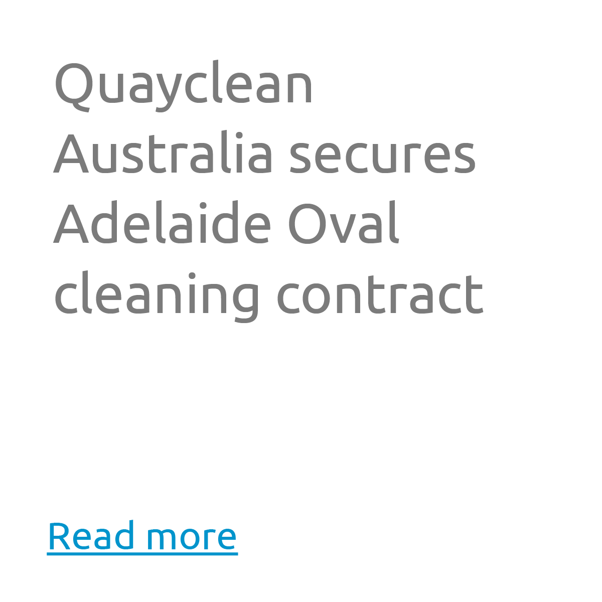 Quayclean Australia secures Adelaide Oval cleaning contract