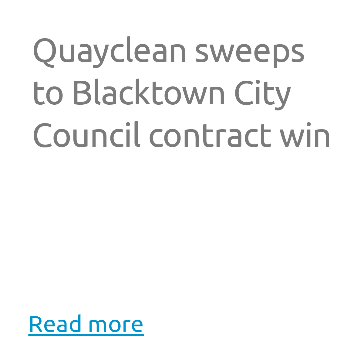 Quayclean sweeps to Blacktown City Council contract win