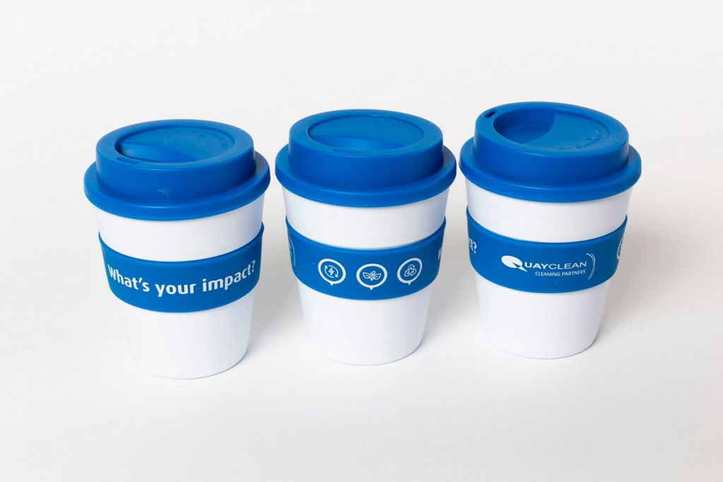 Quayclean re-useable coffee cups
