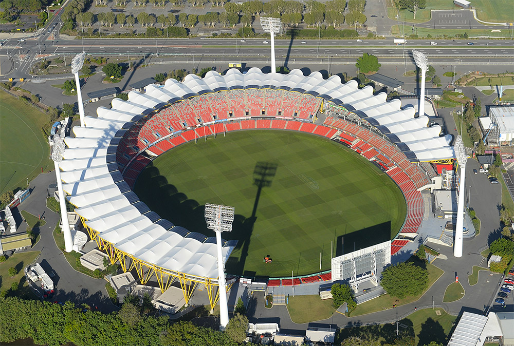 Aerial view of Metricon Stadium